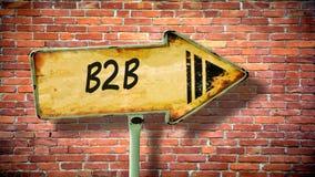 Straatteken aan B2B royalty-vrije stock afbeelding