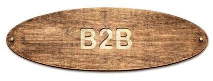 Straatteken aan B2B royalty-vrije stock afbeeldingen