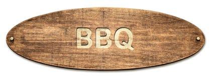 Straatteken aan BBQ stock foto