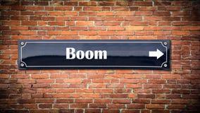 Straatteken aan Boom royalty-vrije stock fotografie
