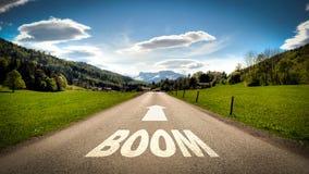 Straatteken aan Boom royalty-vrije illustratie