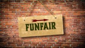 Straatteken aan Funfair royalty-vrije stock foto's