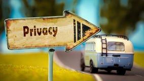 Straatteken aan Privacy royalty-vrije stock afbeelding
