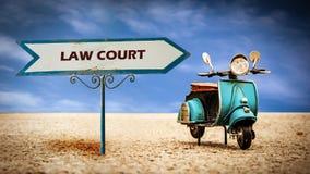 Straatteken aan Wetshof stock fotografie