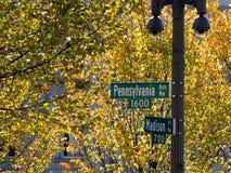 Straatteken 1600 het Witte Huis van het het Avewashington dc van Pennsylvania Royalty-vrije Stock Afbeeldingen