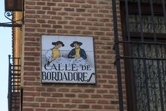 Straatteken in Madrid Stock Fotografie