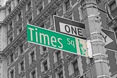 Straattekens voor Times Square in NYC royalty-vrije stock foto