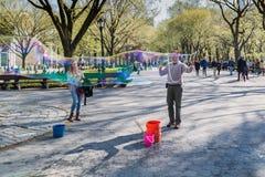 Straatuitvoerder in Central Park, New York Royalty-vrije Stock Fotografie
