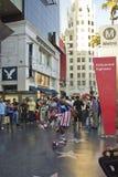 Straatuitvoerder op Hollywood-boulevard Stock Foto