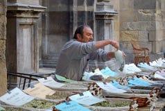 Straatventer Selling Herbs en Kruiden - Granada royalty-vrije stock foto