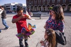 Straatventer in Toluca Stock Foto's