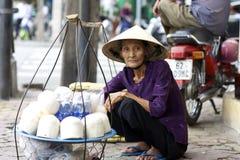Straatventer Vietnam Stock Afbeelding