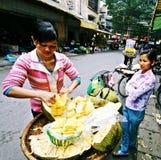 De Verkopers van het Fruit van de hefboom Stock Afbeeldingen