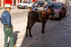 Straatventers in Zacatecas Mexico stock foto's