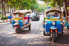 Straatverkeer in Bangkok Thailand Royalty-vrije Stock Fotografie