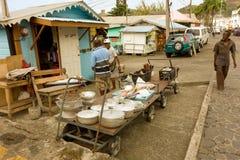 Straatverkoop in de Caraïben Stock Foto