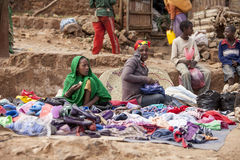Straatverkoper, Ethiopië Stock Foto