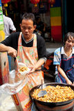 Straatvoedsel in Bangkok, Thailand Royalty-vrije Stock Afbeelding