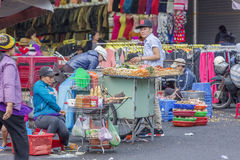 Straatvoedsel, de Markt van DA Lat, Vietnam Stock Fotografie