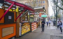Straatvoedsel in Portland - PORTLAND - OREGON - APRIL 16, 2017 royalty-vrije stock foto