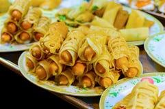 Straatvoedsel, Thais stijlvoedsel, de straatvoedsel van Thailand, Bangkok stock fotografie