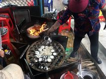 Straatvoedsel in Vung-Tau, Vietnam Royalty-vrije Stock Afbeeldingen