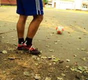 Straatvoetbal Royalty-vrije Stock Fotografie