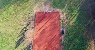 Straatvoetbal Slow-motion lucht stock videobeelden