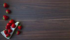 Straberries &咸味干乳酪 免版税库存照片
