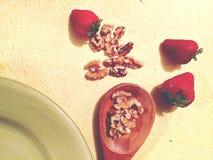 Straberry καρύδια κουζινών στοκ φωτογραφία με δικαίωμα ελεύθερης χρήσης