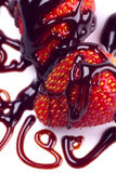 Straberry fruit with chocolate topping Stock Image