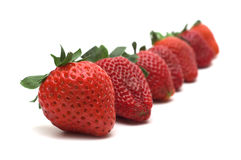 Straberry on white background Stock Images