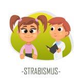 Strabismus medical concept. Vector illustration. vector illustration