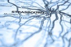 Straßburg-Karte Lizenzfreie Stockfotografie