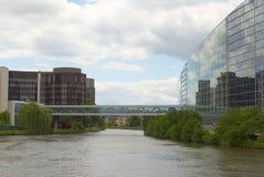 Straßburg-Ufergegend Lizenzfreies Stockbild