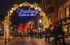 Straßburg-Weihnachtskapital Stockfoto