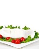 Stracciata com tomates e salada Fotos de Stock Royalty Free