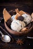 Stracciatella ice cream Royalty Free Stock Image