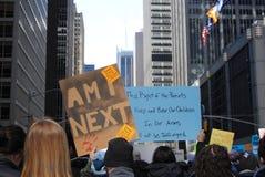 Strach, Będzie Mną Następnie, Marzec dla Nasz żyć, napad z bronią w ręku, protest, NYC, NY, usa Fotografia Stock
