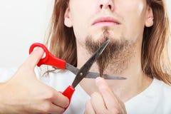 Strach ciąć brodę zdjęcia royalty free