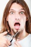 Strach ciąć brodę obraz royalty free