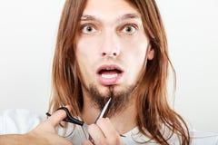 Strach ciąć brodę obrazy stock