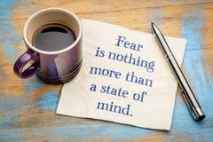 Strach jest nic więcej niż stan umysłu zdjęcia royalty free