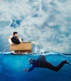 Strach kryzysu i biznesu rywalizaci pojęcie zdjęcie stock