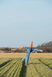 Strach na wróble w rolnictwa polu zdjęcia stock