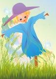 Strach na wróble w trawie ilustracji