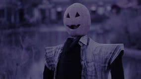 Strach na wróble z Pumpkinface koszmar halloween duch straszny zbiory