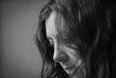 Strach, samotność, depresja, nadużycie fotografia stock