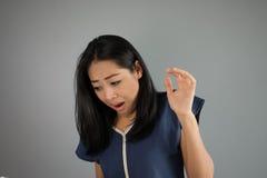 Strachu azjata kobieta Obraz Royalty Free