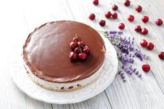 Straciatella cheese cake Royalty Free Stock Photos
